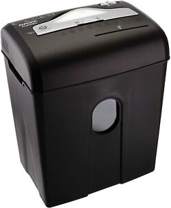 High security 8 sheet Professional Micro cut Paper cd credit Card Shredder Black