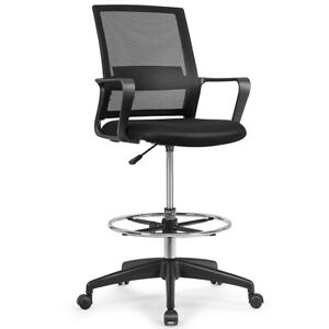 Drafting Chair Tall Office Chair For Standing Desk Adjustable Height W footrest