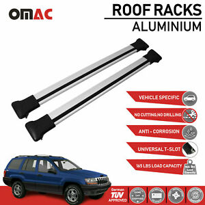 Roof Rack Cross Bars Luggage Carrier Silver For Jeep Grand Cherokee Wj 1999 2004