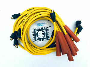 8mm Spark Plug Wires Ignition Cables Female Cap Non Hei Amc Chevy Jeep Pontiac