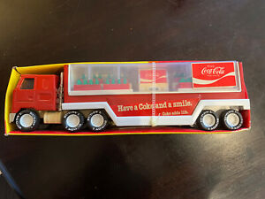 Vintage Buddy L Coke Is It Coca-Cola Delivery Semi Truck Trailer Complete 1980's