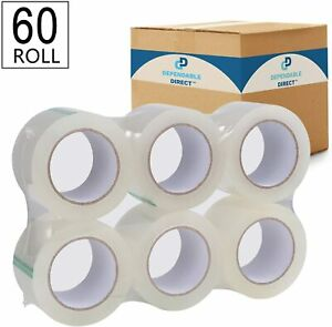 Industrial Grade Clear Packing Tape Heavy Duty 60 Rolls 110 Yards Per Roll