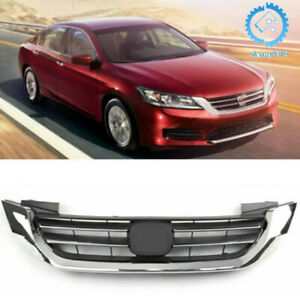Fit For Honda Accord 2013 2014 2015 Front Bumper Abs Chrome Grille Grill New