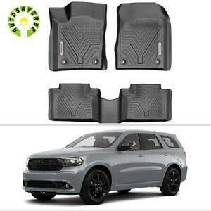 All Weather Floor Mats Liners For 16 20 Dodge Durango Jeep Grand Cherokee Black