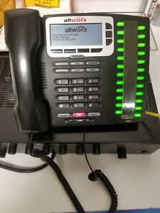 Lot Of 5 Used Allworx 9224 Ip phone With Stands