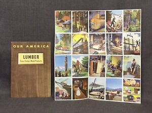 1943 Coca Cola Our America Lumber Teaching Booklet with Stickers