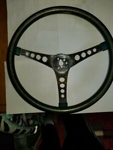 Superior 500 Vintage Green Steering Wheel Plus Mount Kit And Horn Button