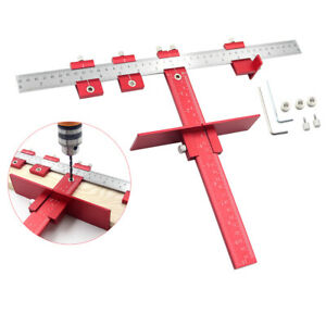 Woodworking Tool Accurate Positioning Jig Guide Drilling Locator Aluminum Alloy