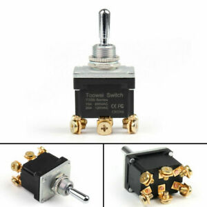 4pcs Waterproof Rocker Toggle Switch on off on Dp3t 6pin Grade Toowei