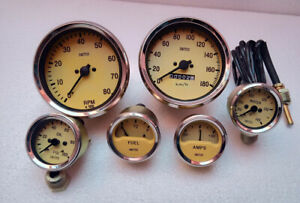 Smiths Gauges Kit Temp oil fuel amp gauge speedometer tachometer Magnolia Cream