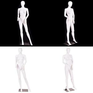 5 8 Ft Female Mannequin Manikin With Metal Stand Plastic Full Body Mannequin Whi