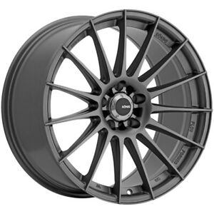 4 Konig 48mg Rennform 19x8 5 5x112 45mm Matte Grey Wheels Rims 19 Inch