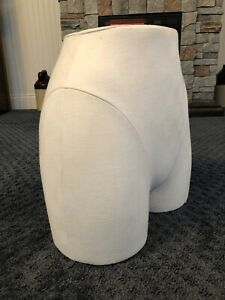 Mannequin Bottom Torso White Fabric Covered 14 Height 12 Width