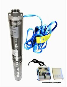 Submersible Pump Deep Well 4 3hp 230v 625 Ft Head Heavy Duty All S s