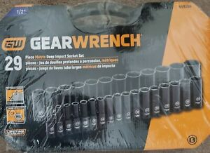 Gearwrench 29 Pc 1 2 Drive 6 Point Deep Impact Metric Socket Set 84935n New