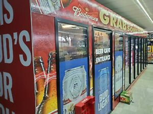 Walk In Cooler With Beer Cave And Windows Complete With Running Refrigeration