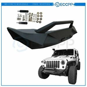 For Jeep Wrangler Jk 2007 2018 Textured Front Bumper Protector Black Guard