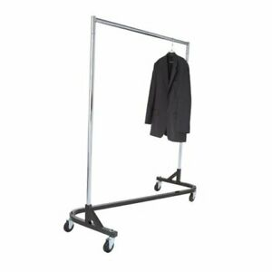 Econoco Commercial Garment Rack z Rack Rolling Clothes Rack Z Rack With