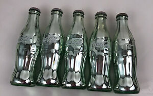 LOT Of 5 SILVER PLATED COCA COLA BOTTLES