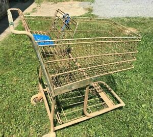 Lot Of 10 Large Lowe s Metal Wire Grocery Store Shopping Carts Buggies Baskets