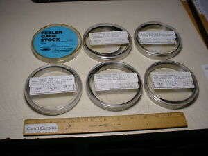 Feeler Gage Shim Stock Lot Of 6 Different Sizes Each 25 Feet