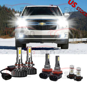 For Chevy Suburban Tahoe 2007 2014 6x 6000k Led Headlight Fog Light Bulbs Kit