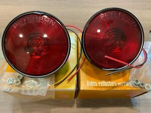 2 Peterson 410 15 416 Tail Lights Stop Tail Nos Stud Mount