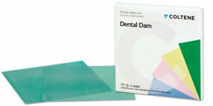 Coltene Rubber Dam Sheets Natural Latex Size 6 X 6 Medium Pack Of 36 Pieces