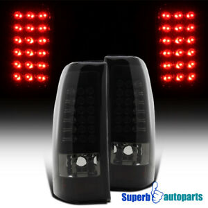 For 2003 2006 Chevy Silverado Led Tail Lights Stop Lamps Glossy Black