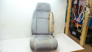 84 88 Fiero Original Gray Cloth Front Driver Left Seat With Speakers In Headrest