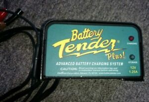 Deltran 12 Volt Battery Tender Plus Battery Charger 1 25 Amps 12 V