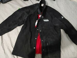 Lincoln Electric Heavy Duty Leather Welding Jacket Red Line Black Size Large
