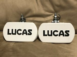 Vtg Lucas Driving Fog Lights Set Of 2 Good Condition Tested