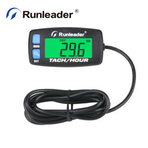Digital Maintenance Hour Meter Tachometer For Marine Chainsaw Compressor Tractor