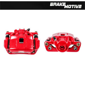 Front Powder Coated Brake Caliper Pair For Acura Ilx Honda Crz For
