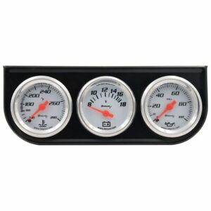 1 1 2 Inch White Triple Gauge Set Volt Meter Equus 5100 Authorized Distributor