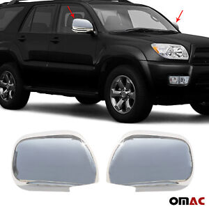 Stainless Steel Chrome Side Mirror Cover Cap 2 Pcs Fits Toyota 4runner 2003 2009