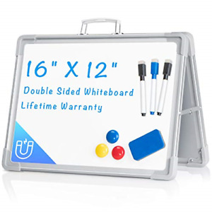 Small Dry Erase White Board 12 x16 Magnetic Portable White Board Double sided