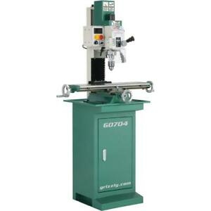 Grizzly G0704 7 X 27 1 Hp Mill drill With Stand