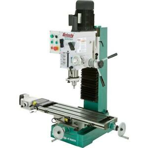 Grizzly G0761 10 X 32 2 Hp Hd Benchtop Mill drill With Power Feed And Tapping