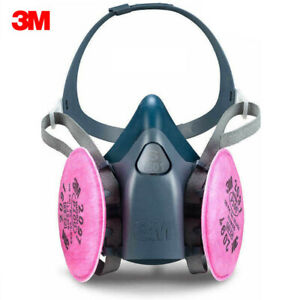 3m 7501 Half Facepiece Respirator W 1 Pair 2097 P1oo Filters Size Small