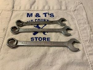 Mac Tools Usa 3pc 6 Point Sae Combination Wrench Set Ch16 Ch18 Ch20