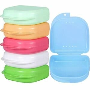 6 Pieces Retainer Case Mouth Guard Orthodontic Denture Storage Container 1 amp