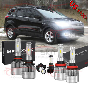 For Ford Escape 2013 2016 6x Combo 9145 H11 9005 Led Headlight Bulbs Kit 6000k
