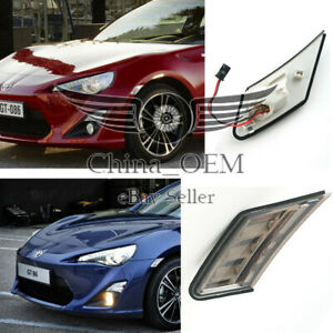 Bumper Side Marker Lights For Toyota Gt86 2013 19 Brz Fr S Side Lamps Smoke Lens
