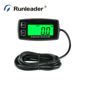 Digital Engine Tach Hour Meter Backlight Display For Generator Scooter Outboards