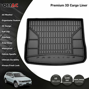 Omac Premium Upper Cargo Trunk Liner Black For Volkswagen Tiguan 2018 2021