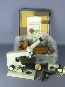 Lomo Biolam Vintage Microscope Russian Years 70 With Case