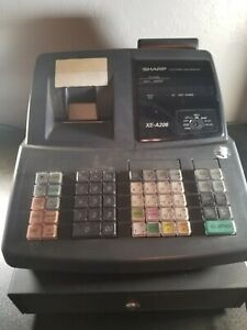 Sharp Xe a206 Cash Register No Keys Pre owned Works Well