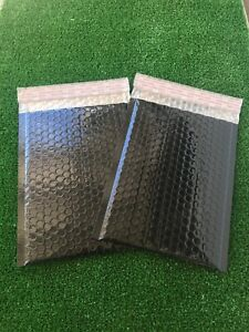 Bubble Mailers Any Size Bubble Bags Metallic Black Padded Envelopes